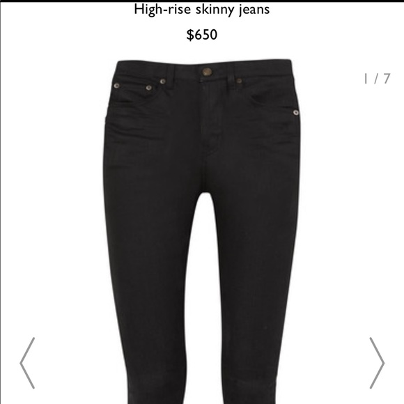 f4a049685e3 Yves Saint Laurent Jeans | Black Skinny Ysl Saint Laurent | Poshmark